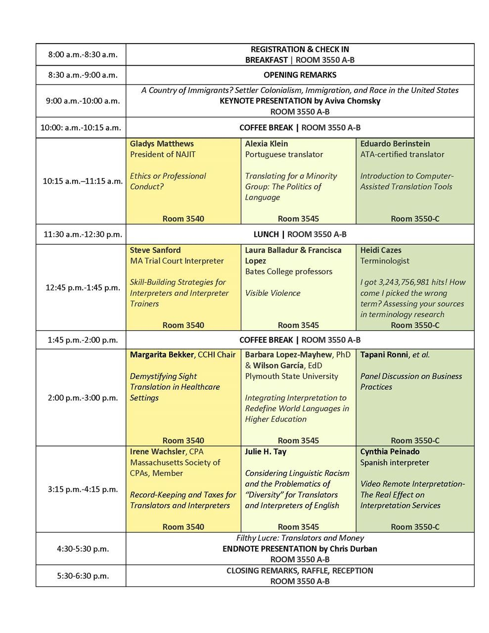 4bfd78778699 NETA - New England Translators Association - 2018 Schedule
